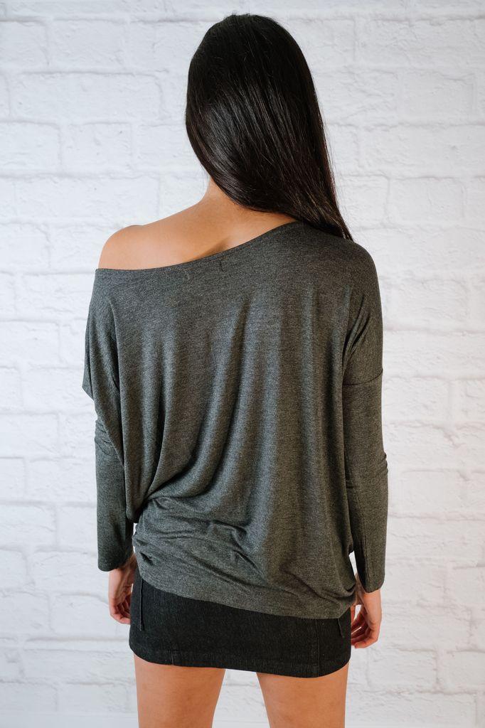 T-shirt Charcoal Bamboo Top