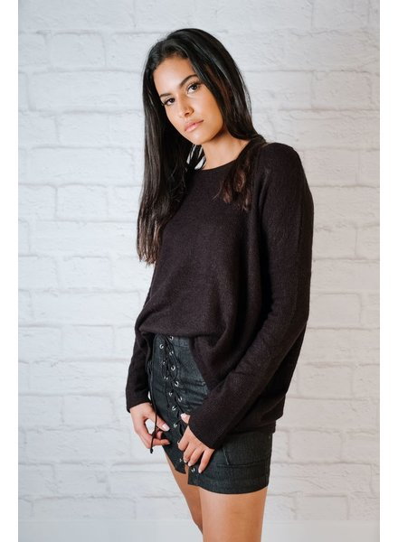 Sweater Favorite Black Boxy Knit