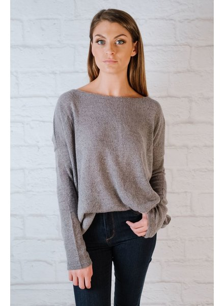 Sweater Favorite Charcoal Boxy Knit