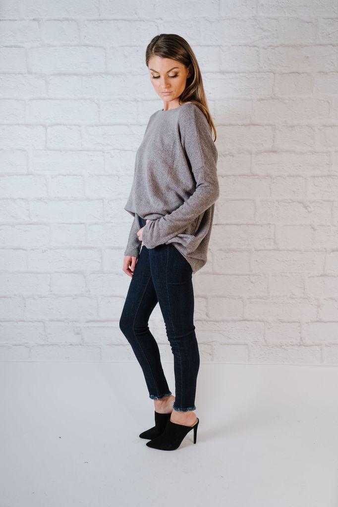 Sweater Favorite Charcoal Boxy Knit