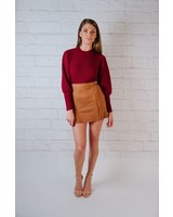Skirt Suede Double Slit Mini