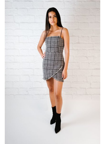 Mini Tweed Frayed Edge Dress