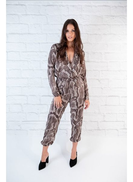 Bodysuit Snake Print Bodysuit