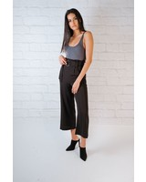 Pants Black Buckle Trousers
