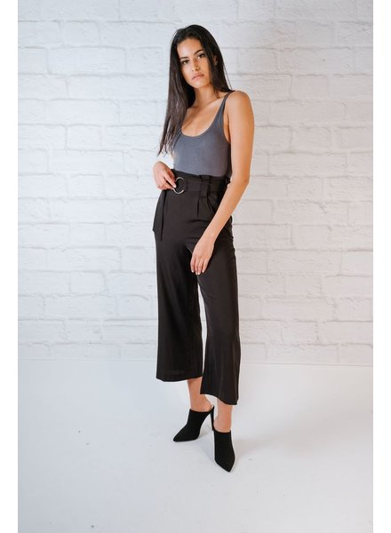 Pants Black Buckle Trousers