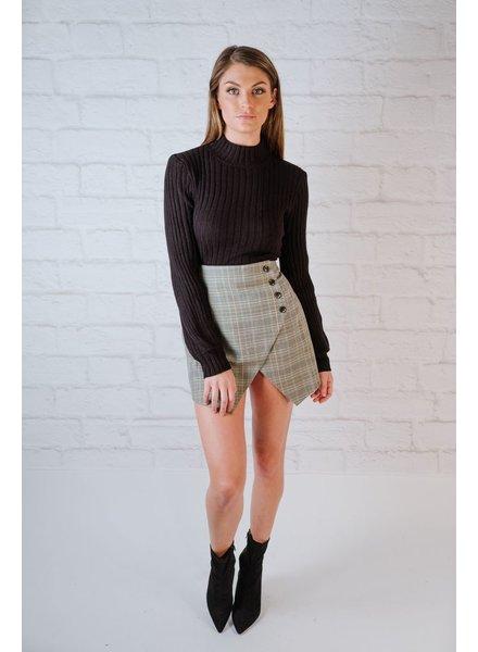 Skirt Grey Plaid Skirt