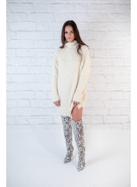 Mini Fuzzy Sweater Dress