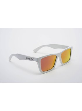 Swell Vision White Sunglasses with Red Lens