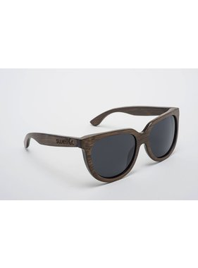 Swell Vision Women's Brown Sunglasses with Smoke Lens