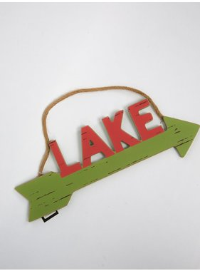 "Creative Co-op ""LAKE"" arrow"