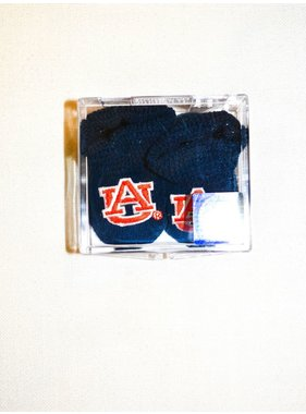 Two Feet Ahead Auburn Collegiate Baby Booties