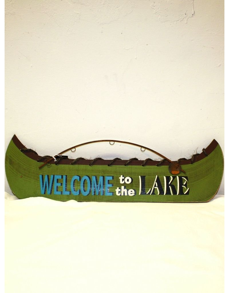 "Creative Co-op ""Welcome to the Lake"" sign  <br /> 23 1/2"" long"