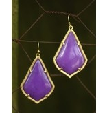 Caroline Hill Christa Earring in Purple