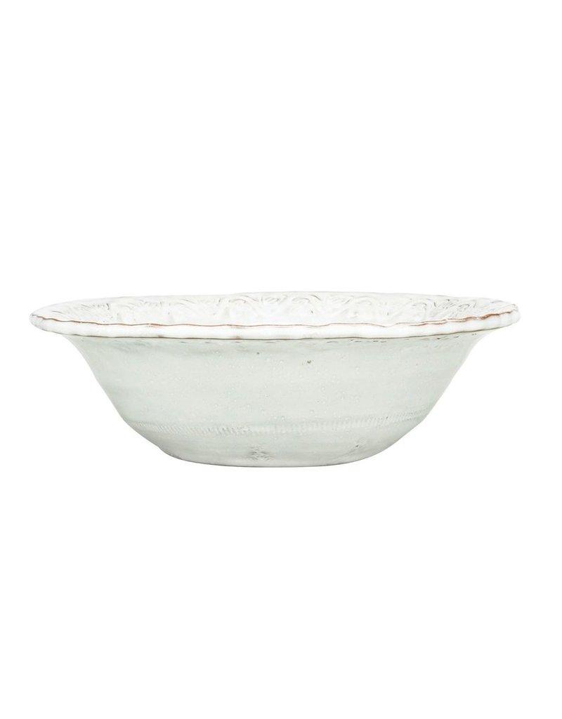 Vietri BZA White Cereal Bowl