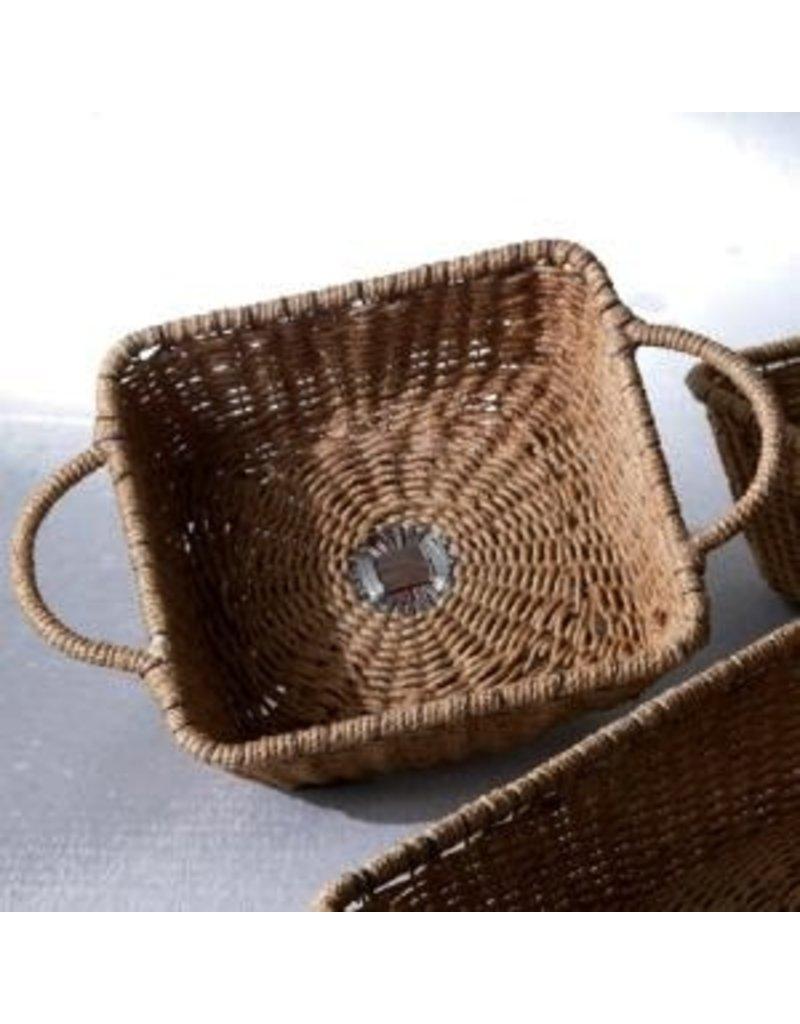 India Handicraft iron jute basket