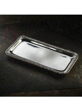 India Handicraft beaded rect tray - med