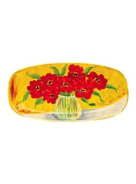 Vietri Sara's Flowers Tulips Oval Platter