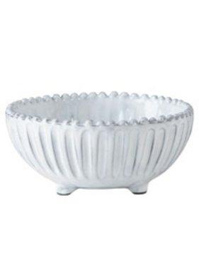 Vietri Inc Striped Footed Bowl