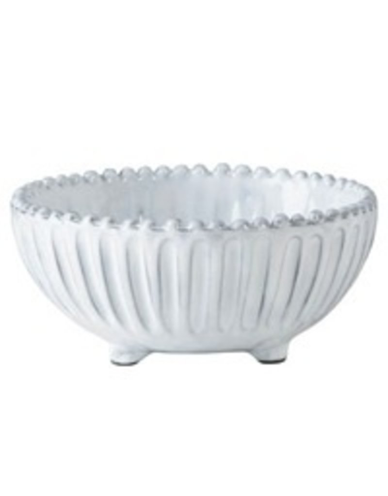 Vietri Inc Striped Footed Bowl