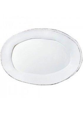 Vietri Lastra oval platter - white