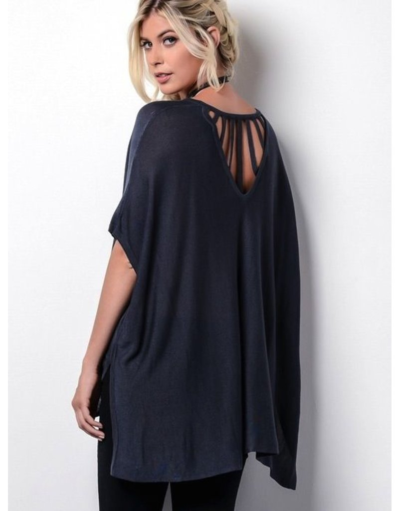 Chas Group Inc. Boxy Sweater with Back Detail