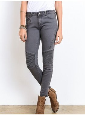 Chas Group Inc. Biker Jeans with Zipper