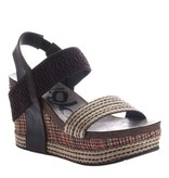 OTBT Bushnell Wedge - Dark Brown Fabric