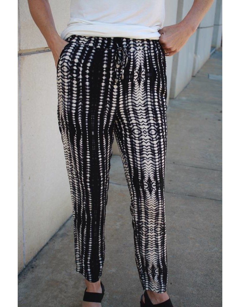 Tribal Print Pants with Drawstring by Tribal