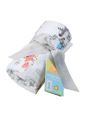 Angel Dear Bamboo Swaddle Blanket - Farm Yard