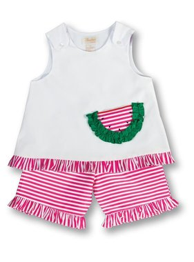 Rosalina watermelon short set