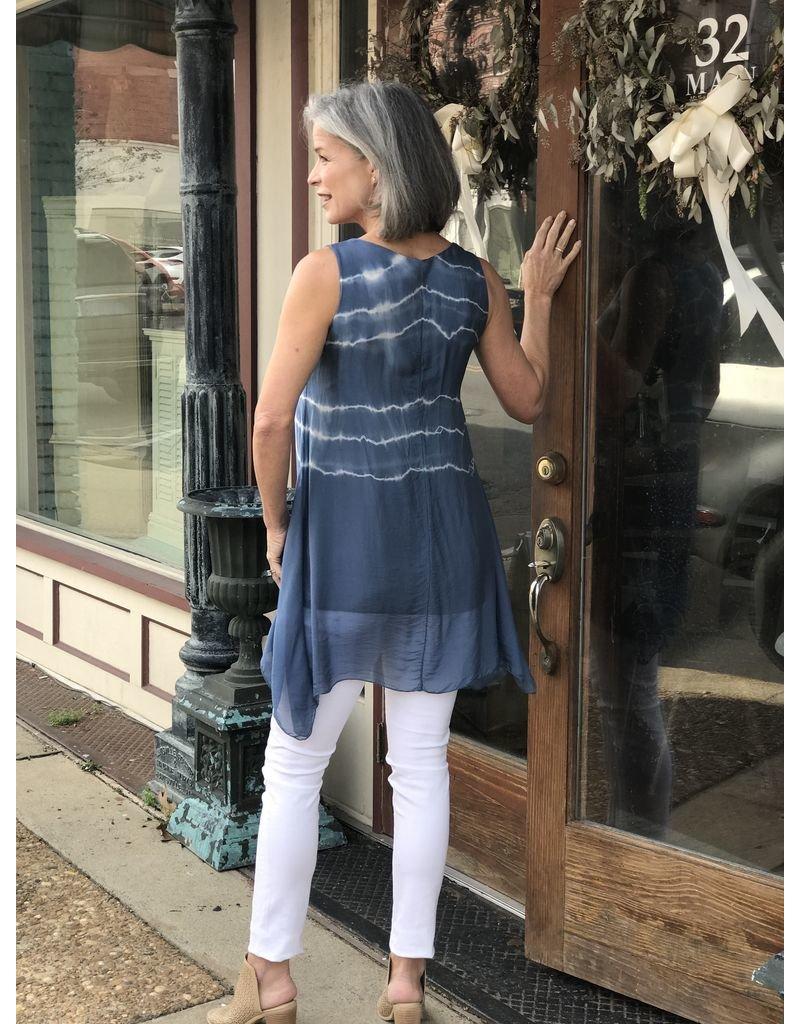 Charlie B Sleeveless Woven Tie Dye Tunic/Dress by Charlie B