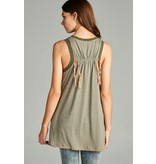 Hyku Tie back rib band tunic