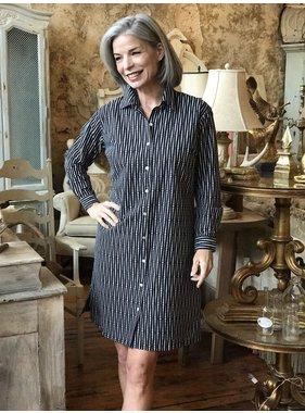 KikiSol Black Fading Dots Shirt Dress by KikiSol