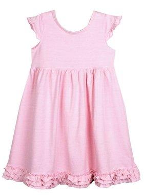 Ishtex Pink Stripe Empire Dress by Ishtex