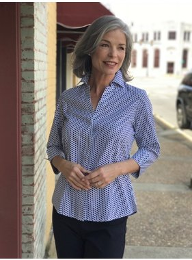 Foxcroft Taylor Optic Dot Blouse by Foxcroft