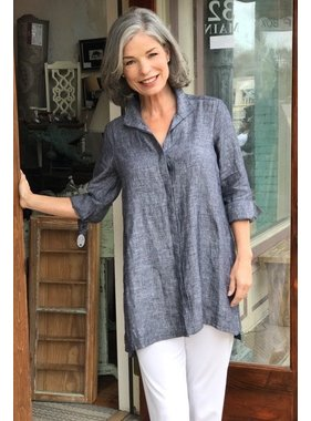 Foxcroft Chambray Linen Tunic by Foxcroft
