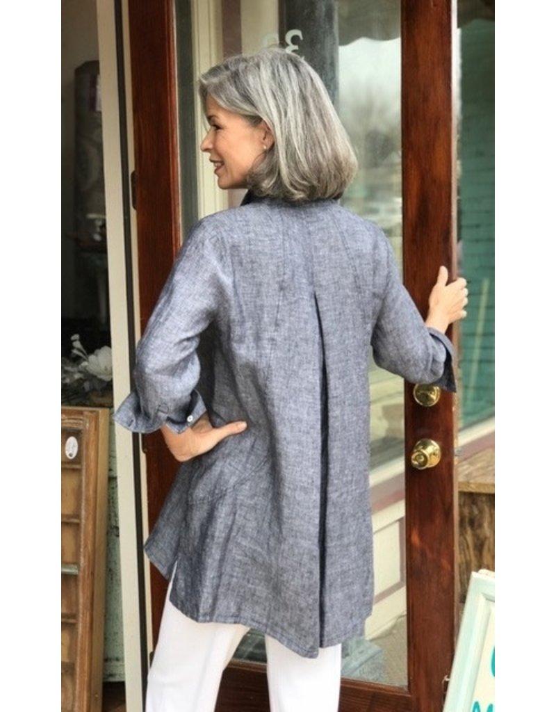 Foxcroft Chambray Linen Tunic by Foxcroft