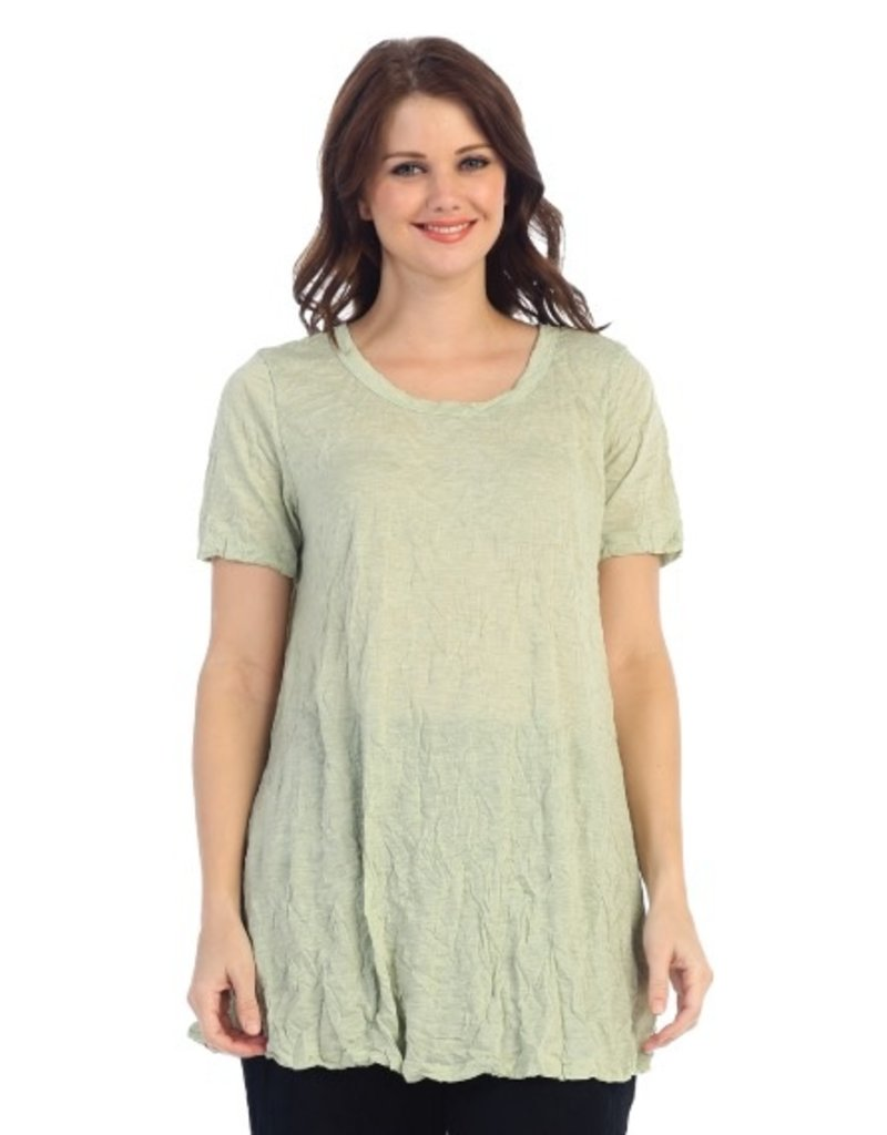 Jess & Jane Melange Crushed Short Sleeve Tunic by Jess & Jane
