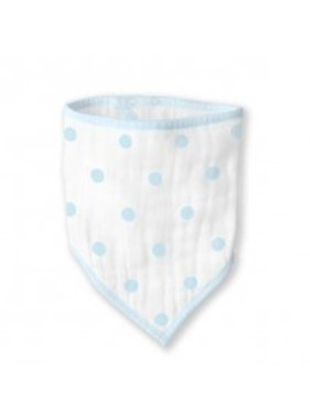 Swaddle Designs Muslin Bandana Bib- Blue