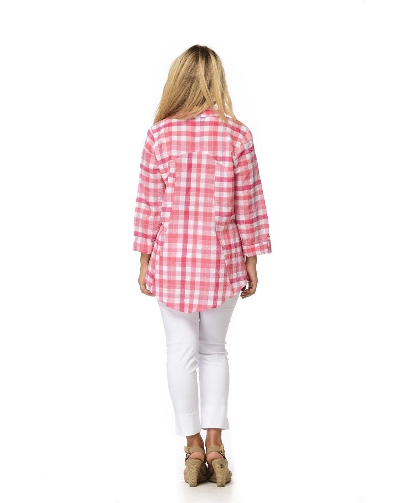 Habitat Check Crinkle Fabric Button Up Shirt by Habitat