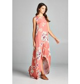 Bellamie Floral High/Low Maxi Dress