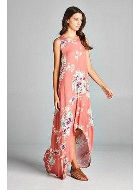 Bellamie Floral High/Low Maxi Dress