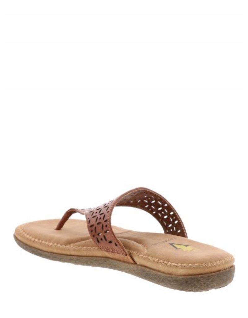 Volatile Lazor Cut Hooded Thong Sandal by Volatile