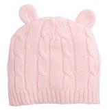 Elegant Baby Pastel Pink Cable Hat Ears by Elegant Baby