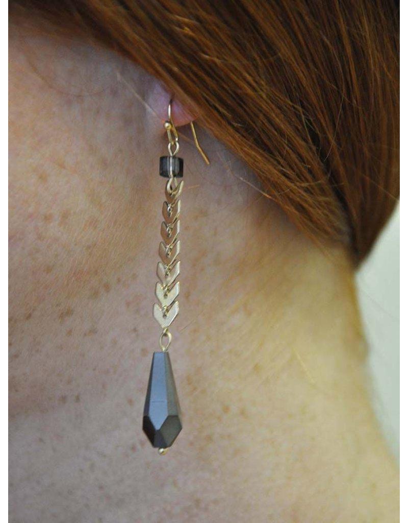 Ann Paige Designs long dangle earring