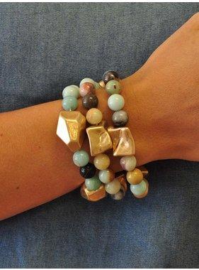 Ann Paige Designs large gemstone stretch bracelets
