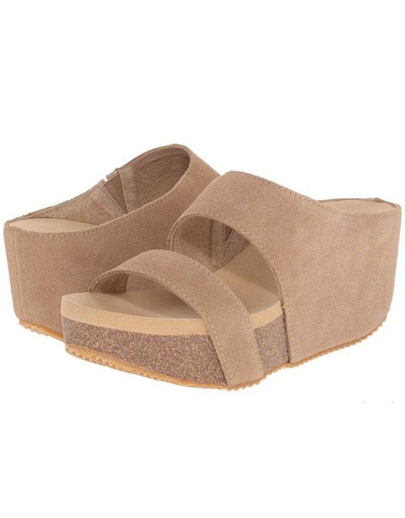 Volatile Two Strap Wrap Wedge Slide by Volatile