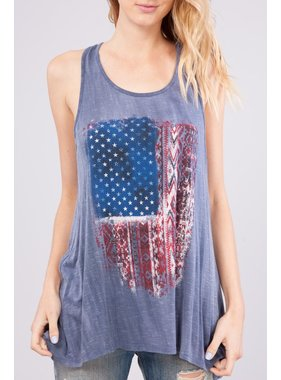 Peach Love California american flag tank