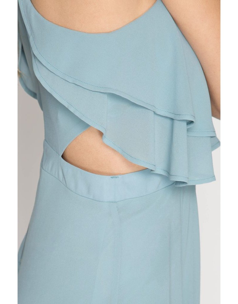 She + Sky Flowy Maxi Dress
