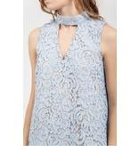 Blu Pepper Baby Blue Halter Lace Dress
